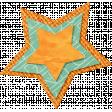 School Fun - Orange Burlap Star