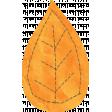 School Fun - Orange Paper Leaf