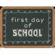 School Fun - Journal Cards - Chalkboard
