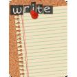School Fun - Journal Cards - Corkboard