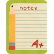 School Fun - Journal Cards - Notes