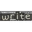 School Fun - Word Art - Write