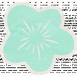 Summer Daydreams - Blue Flower Sticker