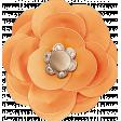 Summer Daydreams - Orange Paper Flower