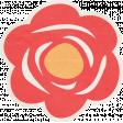 Summer Daydreams - Red Flower Sticker