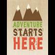 Outdoor Adventures - Journal Card - Adventure Starts Here