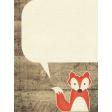 Outdoor Adventures - Journal Card - Fox Speech Bubble
