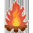 Outdoor Adventures - Campfire Sticker