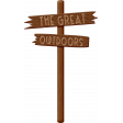 Outdoor Adventures - The Great Outdoors Sign