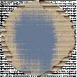 Footsteps Cardboard Circle - Blue