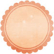 Peach Scalloped Tag