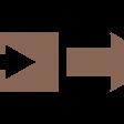 Brown Arrow Stamp