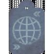 Footsteps Globe Tag