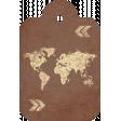 World Map Tag