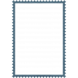 Navy Stamp Frame 3x5