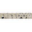 Freedom Word Art (Navy)