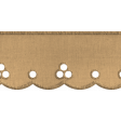 Scalloped Lace Ribbon - Tan