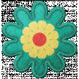 Challenged Felt Flower - Green & Yellow