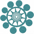 Change Felt Flower - Star Bubble Blue