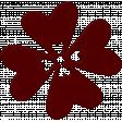 Change Felt Flower - Red Hearts