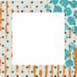 Dino Square Frame - Polka Dots