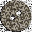 Cambodia Button - Fan Pattern