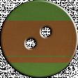 Cambodia Button - Green & Brown