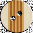Cambodia Button - Brown & Tan & Cream Striped
