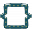 Cheer Bracket Frame - Green & Yellow Polka Dot