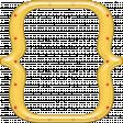 Cheer Bracket Frame - Yellow & Red Polka Dot