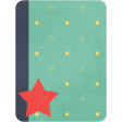 Cheer Journal Card - Green Blue and Red