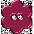 Malaysia Button - Purple Flower