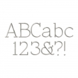 Thin Serif Silver Alpha