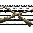 Khaki Scouts Medal Pin - Guns