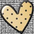 Pencil - Polka Dot Heart Sticker