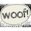 Puppy Dog Tag - Woof