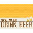 Boozy Beer Journal Block - Save Water Drink Beer