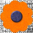DSF October 2013 Flower - Orange & Blue