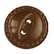 Button 82 - Brown