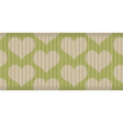 Thanksgiving Ribbon - Green & Cream Hearts