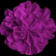 Brighten Up Fabric Flower - Purple