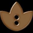 Brown Flower Button