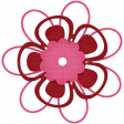 Egypt Flowers - Pink & Red Looped Paper