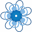 Egypt Flowers - Blue Looped Paper