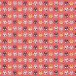 Floral 62 Paper - Coral & Navy