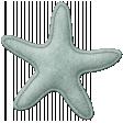 Coastal Starfish Felt - Teal