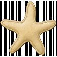 Coastal Starfish Felt - Yellow
