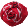 At The Farm Fabric Flower - Red