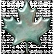 Blue Metal Leaf