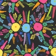 Mexico - Floral Paper - Black